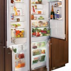 Встраиваемые холодильники Side by Side